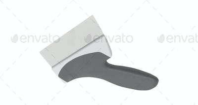 putty knife isolated on white