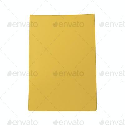 Yellow bag isolated