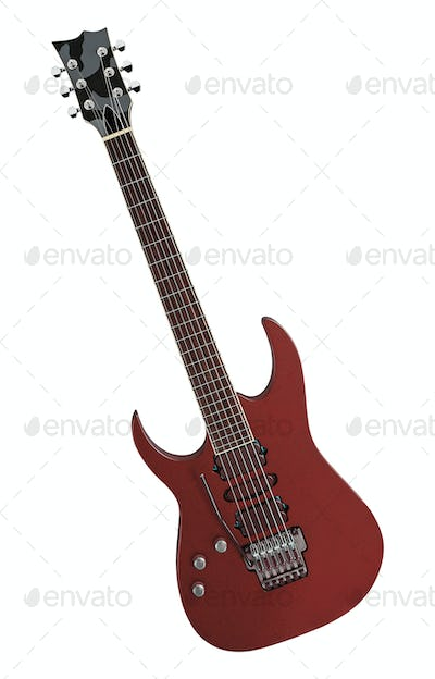 electric guitar isolated on a white background