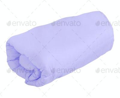 purple blanket isolated