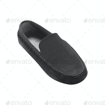 male leather loafers pair isolated on white