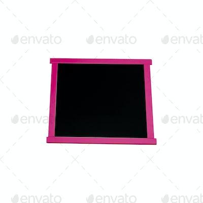 wooden blank blackboard isolated on white background