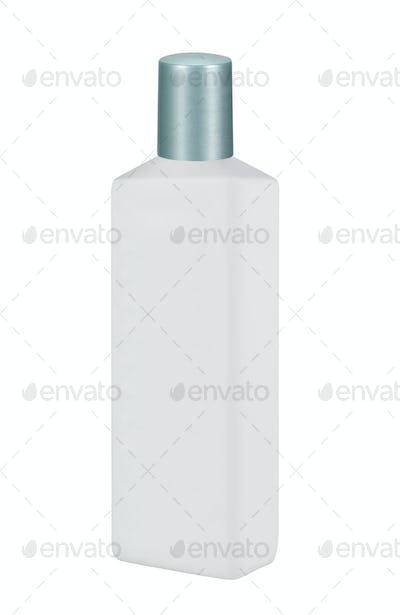 White plastic Shampoo Bottle