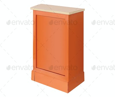 wooden podium isolated