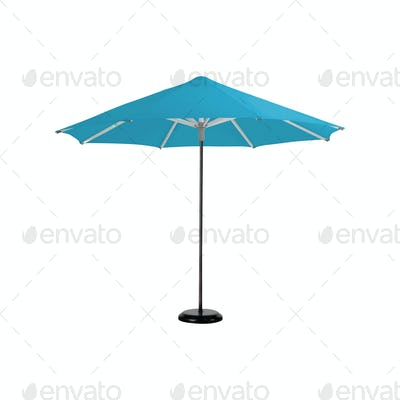 beach umbrella isolated on white
