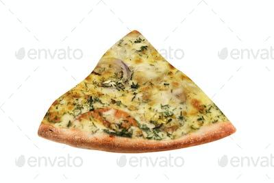 Delicious italian pizza slice