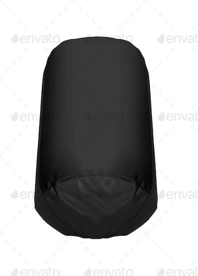 black Punching bag isolated