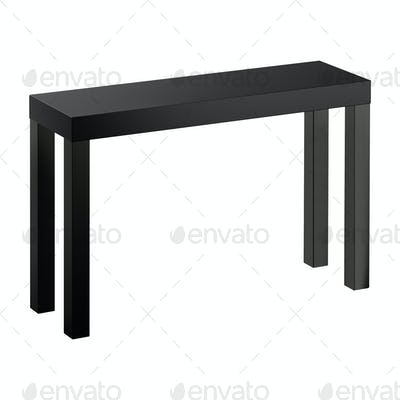 Wood bench isolated on white background