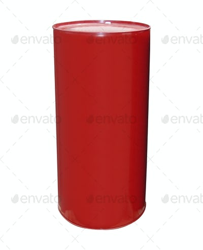 red barrel isolated