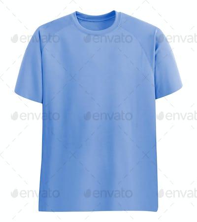 Blue tshirt isolated on white
