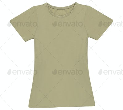 woman t-shirt isolated