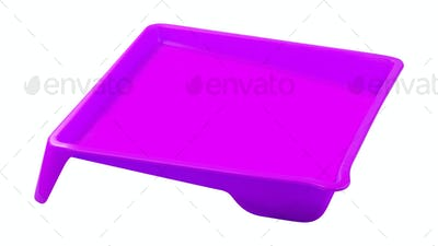 purple tray on white background
