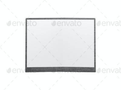 Empty whiteboard isolated on white background