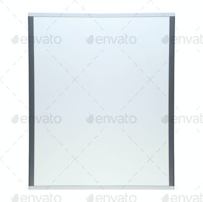 Empty whiteboard isolated
