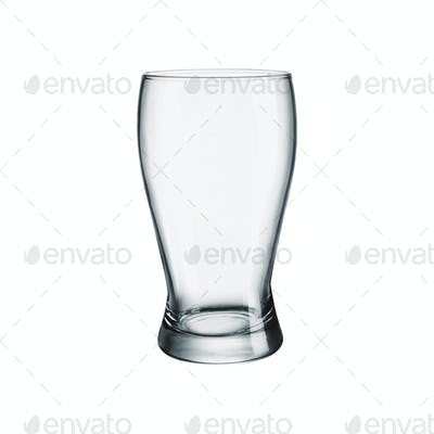 Empty glass for beer isolated