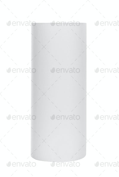 Roll of paper towels isolated on white