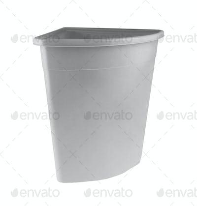 Empty Laundry Basket isolate on white background
