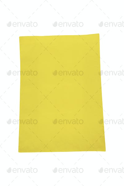 yellow canvas shopping bag isolated on white background