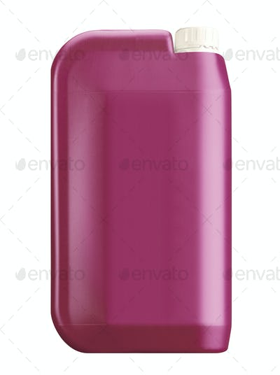 plastic jerry can isolated on a white