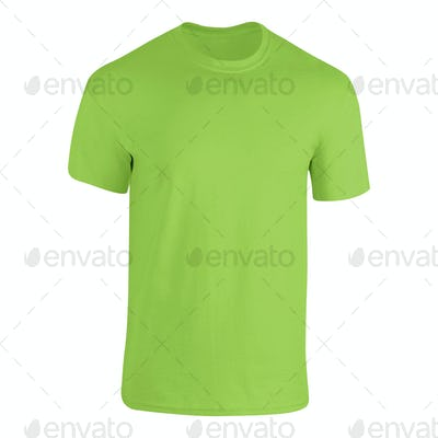 Green tshirt isolated on white