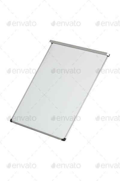 Empty whiteboard isolated on white