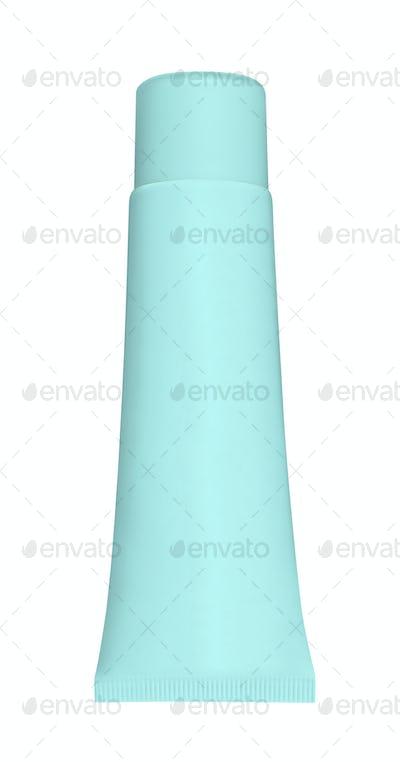 Blue tube isolated on white