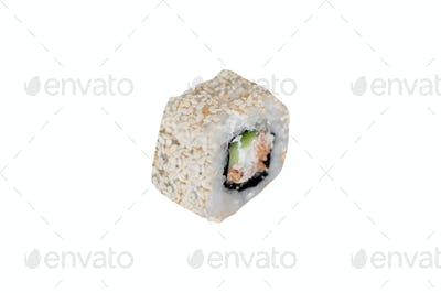 a sushi roll isolated