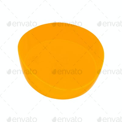 A bowl of orange on a white background