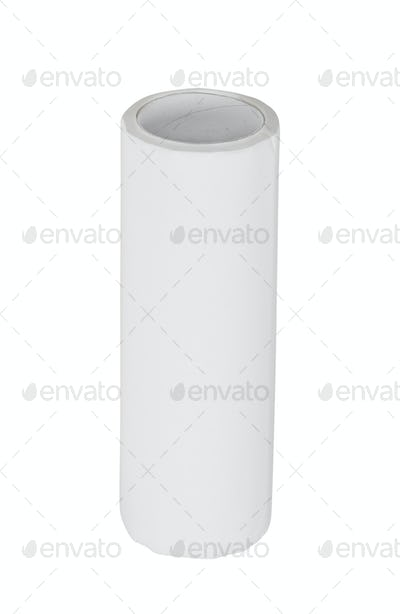 Paper towel roll isolated on white background