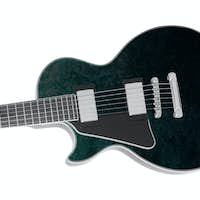 Beautiful electric guitar isolated on white background
