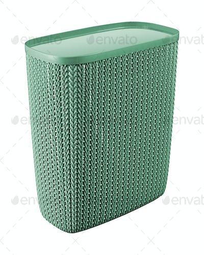 Empty Laundry Basket isolate on white