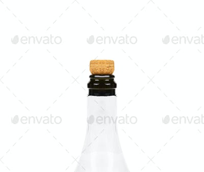 Isolated champagne bottle on white