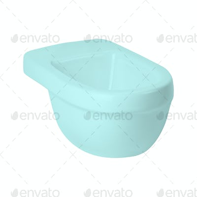 Toilet training potty used by small children