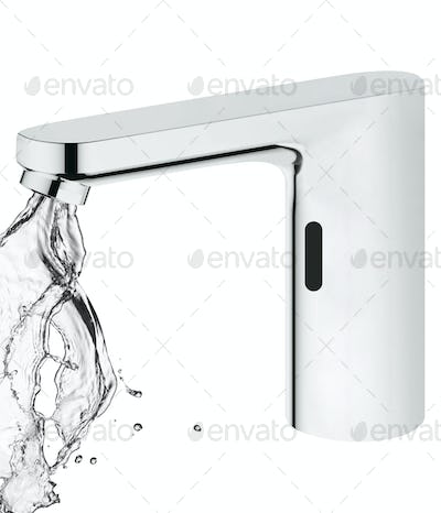 faucet isolated on white