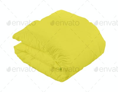 Warm blanket, isolated on white background