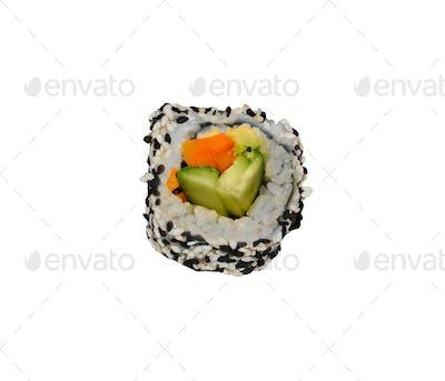 Sushi roll isolated on white background
