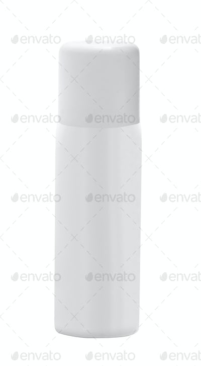 White container of spray bottle isolated