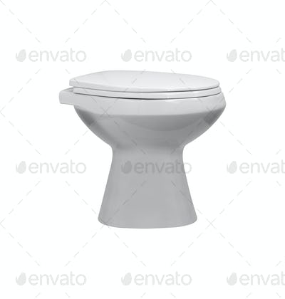 White toilet bowl isolated