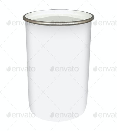 Metal cup isolated on white