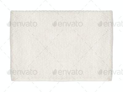 Blank paper napkin isolated on white background