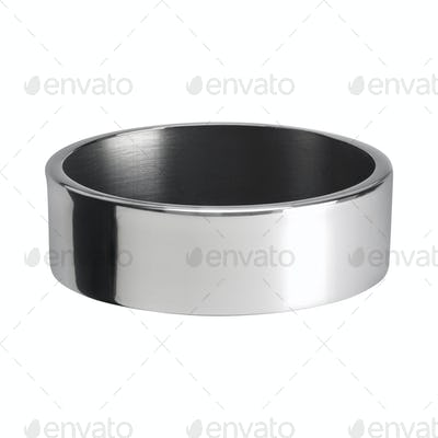 Round metal ashtray