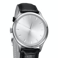 modern watch isolated on a white