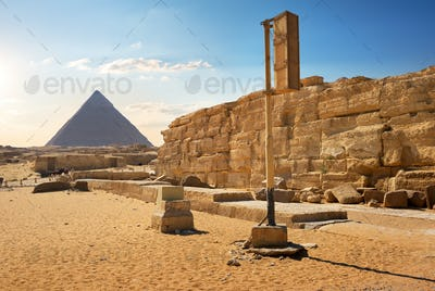 Pyramid and ruins