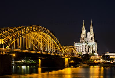 Cologne Cathedral And Bridge, Germany