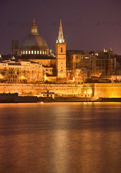 Valletta At Night, Malta