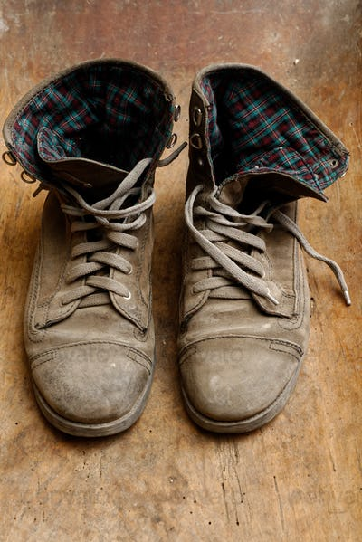 Pair of old shoes