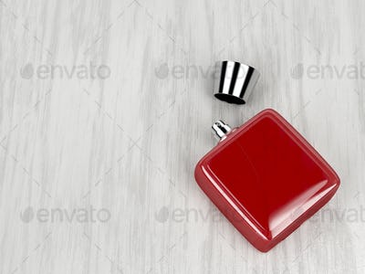 Red perfume bottle