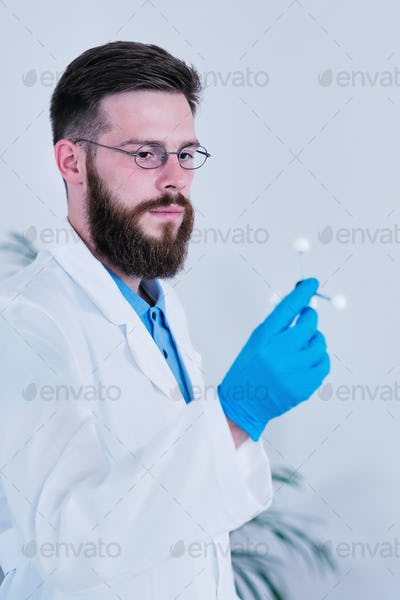 Portrait Of Male Researcher In The Laboratory