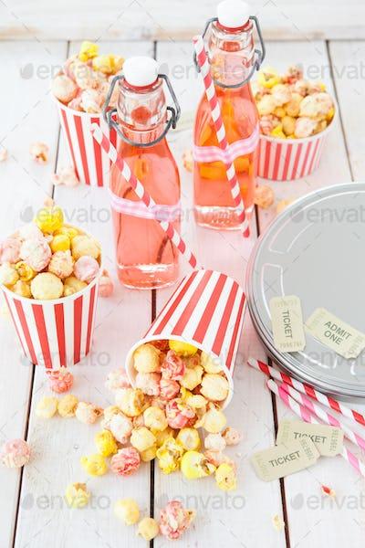 Popcorn and lemonade