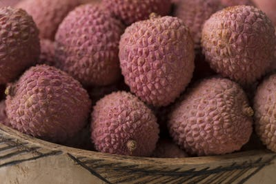 Fresh ripe Lychees